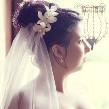 Bun with wedding veil