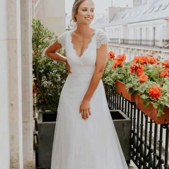 Robe de mariée la Parisienne modèle Laurine - Crédit photo: Elsa Gary