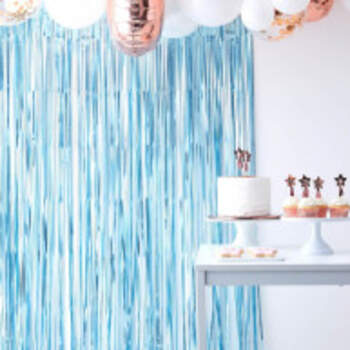 Rideau De Fond Bleu - The Wedding Shop !