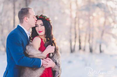 Sesja ślubna z pierwszego dnia Nowego Roku w hipnotyzującej czerwieni. Zapraszamy!