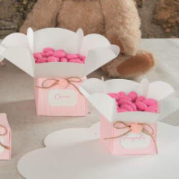 Boîte fleur rose 10 pièces - The Wedding Shop