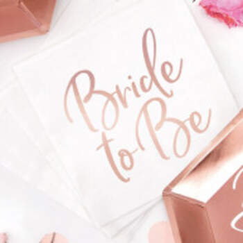 Serviettes Bride To Be Or Rose 20 Pièces - The Wedding Shop !