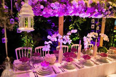 Decoración Glam en tu boda con las mesas imperiales