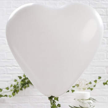 Maxi globo corazón blanco 3 unidades- Compra en The Wedding Shop