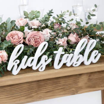 """Letras """"kids table""""- Compra en The Wedding Shop"""