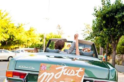 Ideas DIY para decorar el carro de los novios
