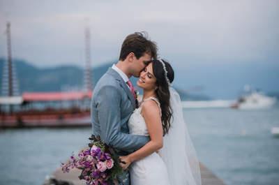 Casamento na praia de Patricia & Nicolas: Rústico, ao ar livre, maravilhoso!