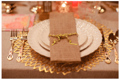 Magnificent metallic tones for your wedding decor