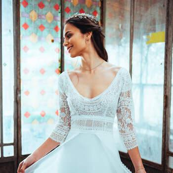 Photo : Guillaume Gilles - Elsa Gary, robe de mariée Essentielle