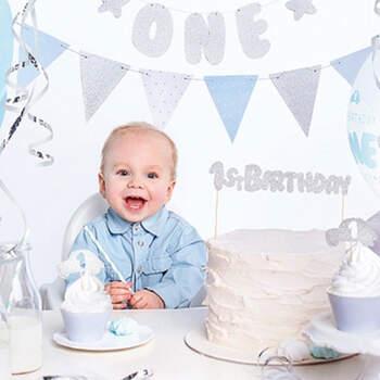 Juego completo primer cumpleaños niño- Compra en The Wedding Shop