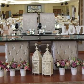 Decoração Vintage - A mesa dos noivos