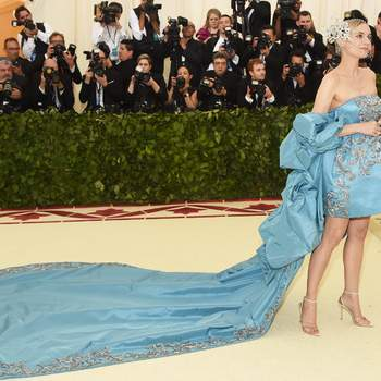 Diane Kruger em Prabal Gurung | Foto: Getty Images