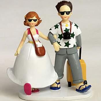 Cake Topper Mariès En Voyage - The Wedding Shop !