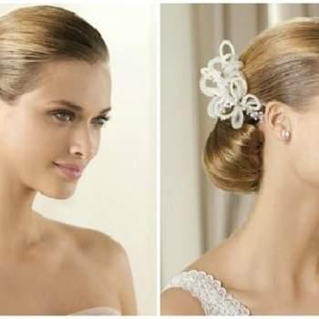 Accessori per capelli con motivo a farfalla. Foto www.pronovias.com