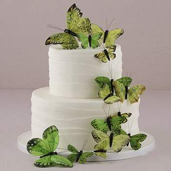 Cake Topper Verts Butterflies 24 Pièces - The Wedding Shop !