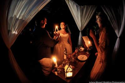 Casamento de Camila e Rodrigo: pés na areia em cerimônia celta!
