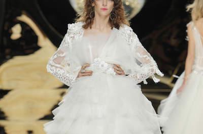 Los 50 vestidos de novia con volantes más bonitos de la próxima temporada. ¡Tienes que verlos!