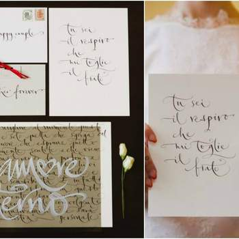 Credits: Calligraphy: Betty Soldi; Photography: Cinzia Bruschini; Planning + design: Le Jour du Oui