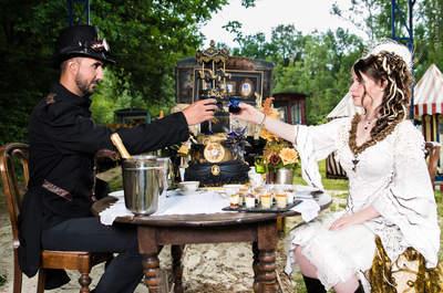 Une inspiration unique et décalée pour un mariage rétro futuriste steampunk