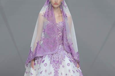 Vestidos de novia Naeem Khan 2017: siluetas inesperadas y color en un desfile único