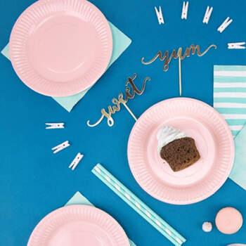 Platos Primer Cumpleaños Niña 6 unidades- Compra en The Wedding Shop