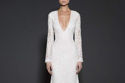 Ficha estos vestidos de novia con mangas únicas para 2016: ¡marca la diferencia!