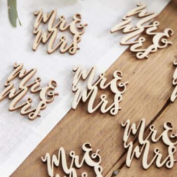 Letras decorativas de madera Sr y Sra 15 unidades- Compra en The Wedding Shop