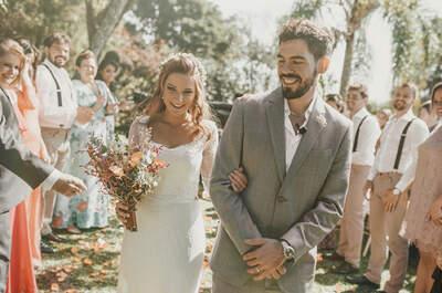 O casamento no campo de Patrizia e Lucas: ao ar livre no estilo Boho!