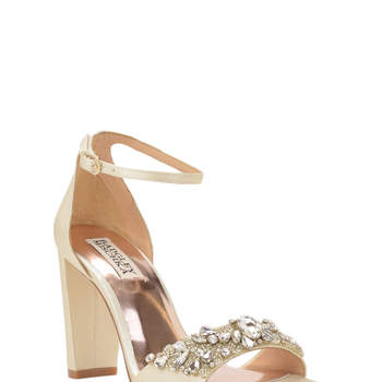 Barby ankle strap evening shoe. Credits: Badgley Mischka
