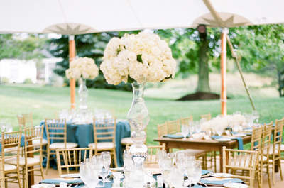 Something Blue: Wedding Decor and Bridal Look Inspiration