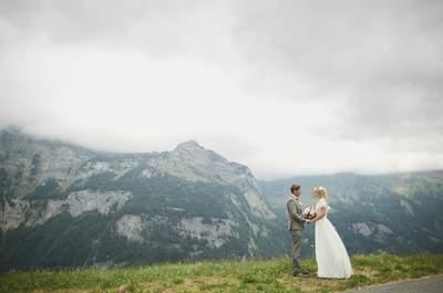 Гора ангелов: свадьба Александра и Елизаветы в Швейцарии!