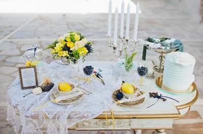 Giallo e azzurro, i colori di tendenza per le decorazioni e gli accessori di nozze!