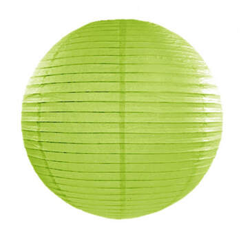 Esfera de papel para iluminar verde manzana 35cm - Compra en The Wedding Shop