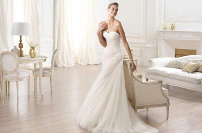 Vestidos de novia con escotes corazón de Pronovias 2015
