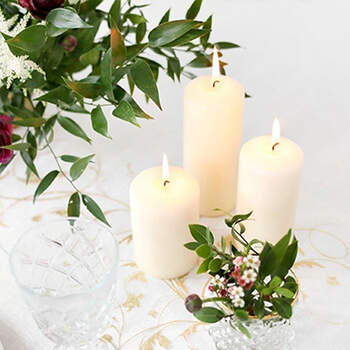 Vela Decorativa Marfil Grande 6 unidades- Compra en The Wedding Shop