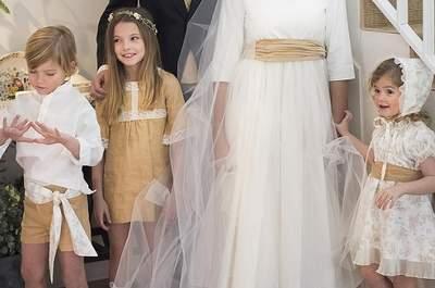 Cómo deben lucir los pajes en una boda: Tips de estilo para vestir a los más pequeños