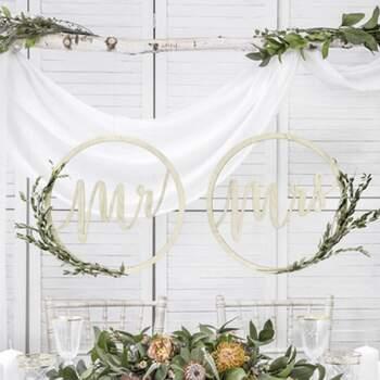 Décorations Mr Et Mrs - Achetez sur The Wedding Shop !