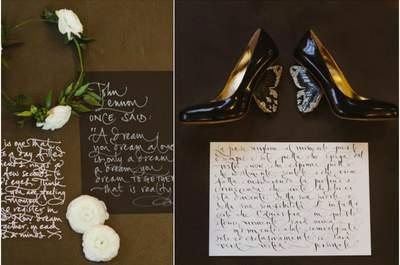 Las caligrafías que querrás en tu matrimonio este 2015