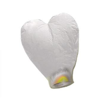 Farolillo chino corazón blanco- Compra en The Wedding Shop