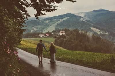 Ślub i wesele polsko – niemieckie. Pełne emocji, nowoczesne a jednocześnie pełne polskich, weselnych zwyczajów. Pełne też deszczu …. Cudowny!