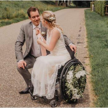 Trouwen in een rolstoel: prachtige styled shoot met als thema buitenbruiloft!   Beyoutiful Fotografie