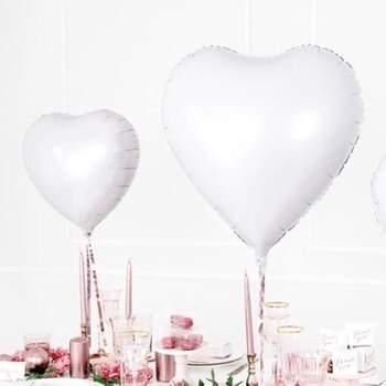 Ballon Cœurs Blanc - The Wedding Shop !
