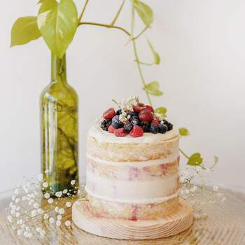 Foto: Hey Sugar Mx - Naked Cake con frutos rojos
