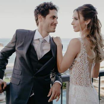 Vestido Atelier Silvio Cruz e traje Sarto Cavalieri | Foto: Giovani Garcia