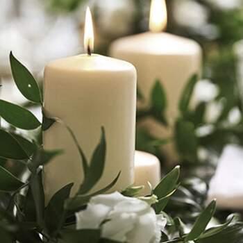 Bougie décorative ivoire moyenne 6 pièces - The Wedding Shop