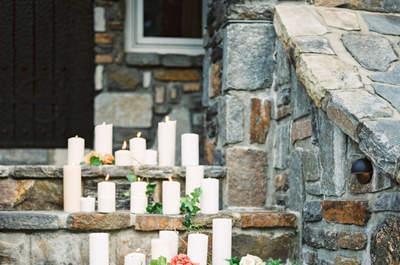 Come decorare il tuo matrimonio con le candele? Ecco 25 idee per il 2017