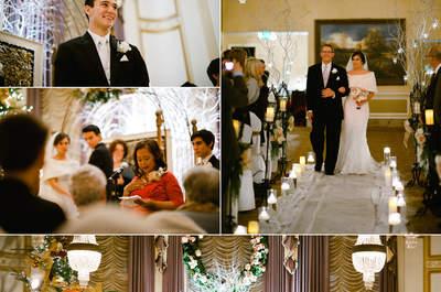 Hochzeitsfotos von einer Winterhochzeit