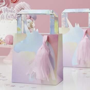 Sac De Fete Licorne Irisée 5 Pièces - The Wedding Shop !