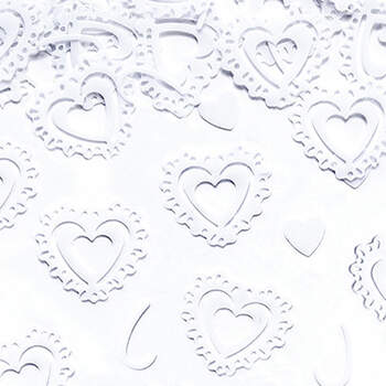 Corazones Blancos de Confeti - The Wedding Shop