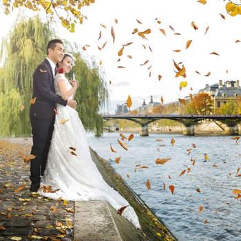Photo : Agence 520 - Spécialiste du mariage, cette agence s'inspire de votre histoire pour vous livrer un album souvenir à votre image. Le photographe a choisi de réaliser une séance photo de couple avec beaucoup de technique et de créativité. La photo marque le début d'un nouveau chapitre, à deux.